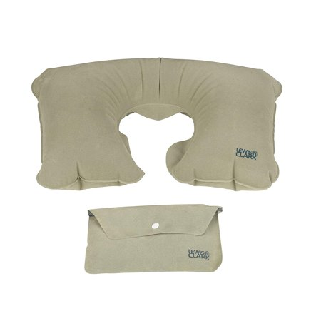 Airport Travel - Lewis N. Clark Original Neckrest Inflatable Pillow, Waterproof Neck Pillow for Neck Support at the Beach, Pool + Airport Travel with Fully.., By Lewis N Clark