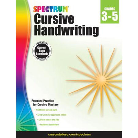 Spectrum Cursive Handwriting, Grades 3 - 5](Halloween Handwriting)