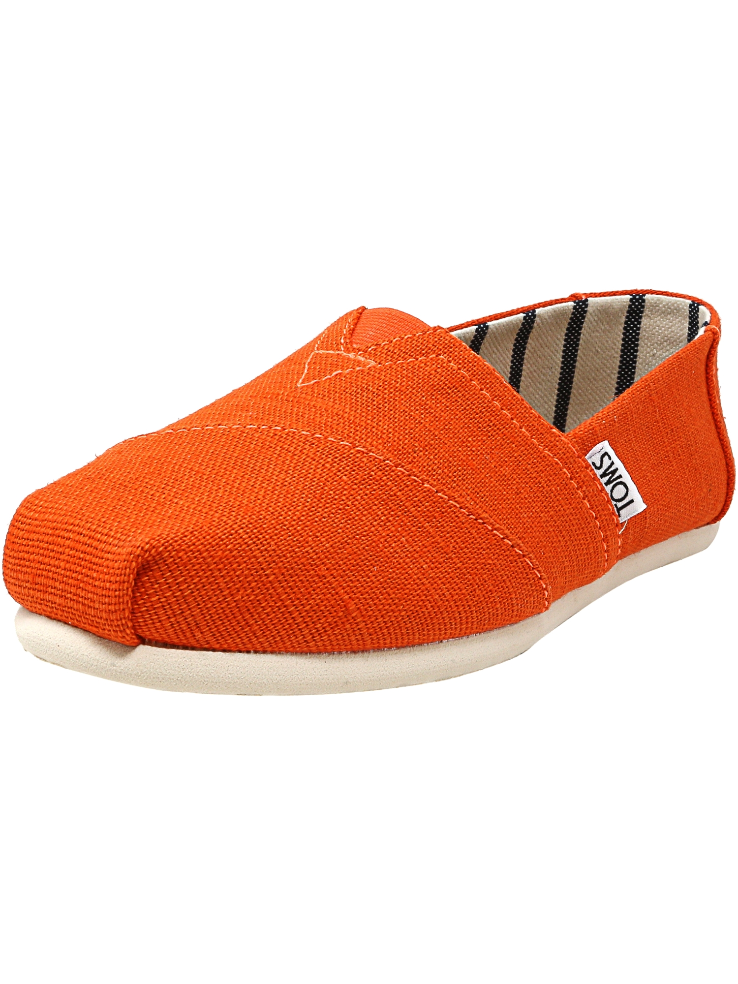 Toms Women's Classic Heritage Canvas Tangerine Ankle-High Slip-On Shoes - 7.5M