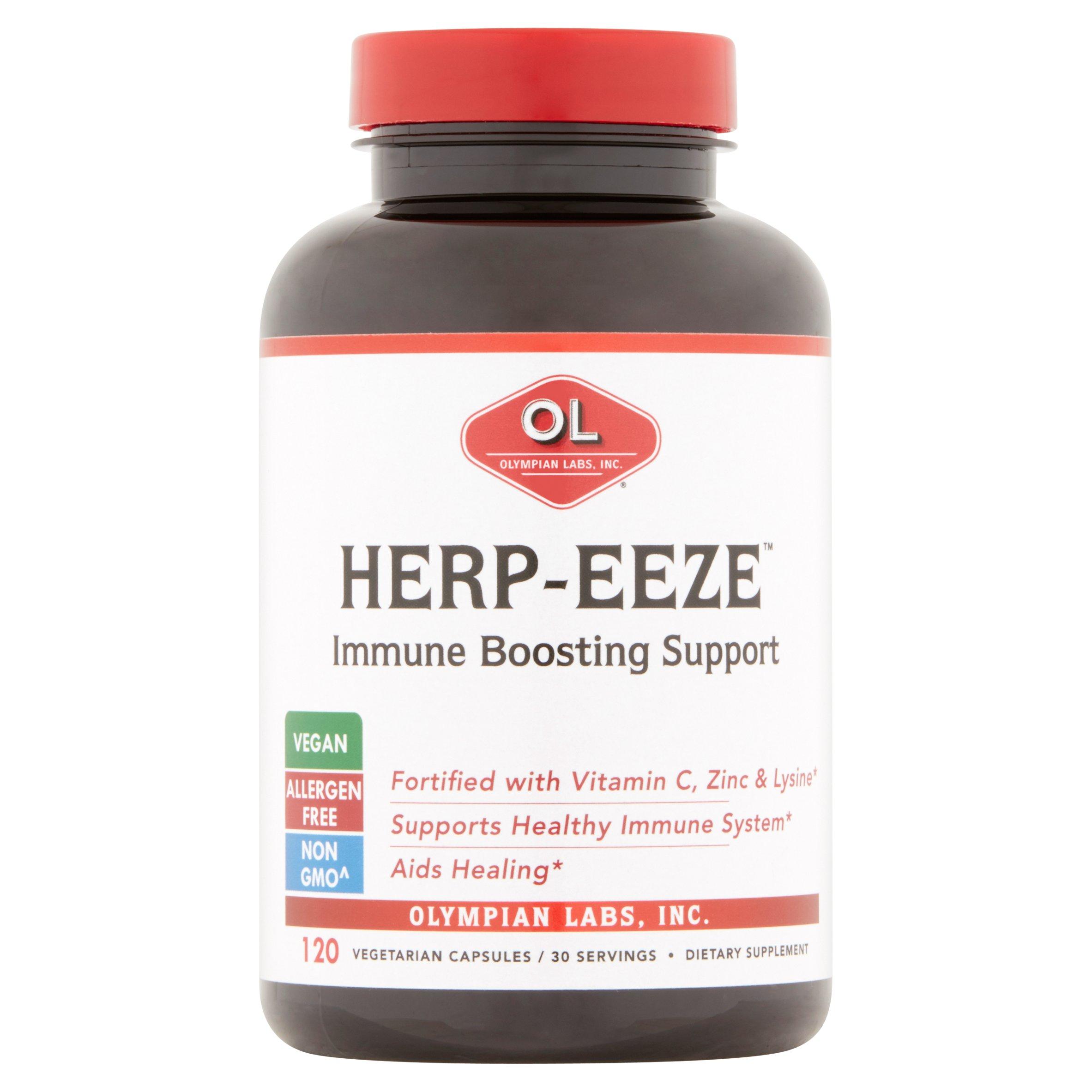 Olympian Labs Herp-Eeze Immune Boosting Support Vegetarian Capsules, 120 count