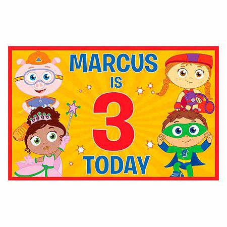 Personalized Super Why! & Friends Birthday Placemat