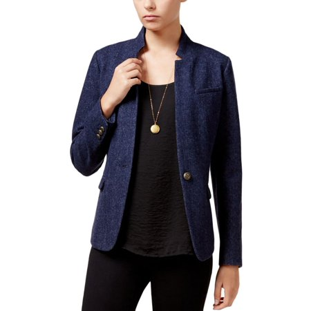 Maison Jules Womens Wool Blend Long Sleeve Blazer