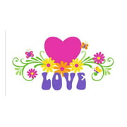 LOVE and Flowers Wall Mural (Small)