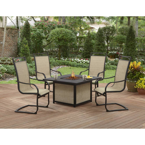 Better Homes and Gardens Pembroke Place 5 PC Fire Pit Sling Chat