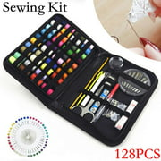 Willstar 52/128Pcs Multi-function Sewing Kit Thimble Measure Needles Thread Portable Embroidery Craft Kit Home Travel Stitches Mending Tool Set with Storage Bag