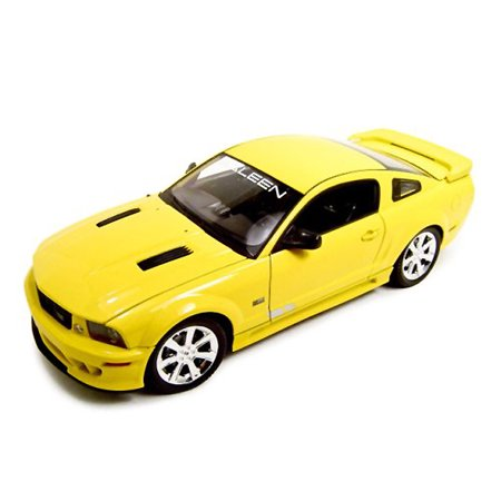 2007 Saleen Mustang S281E Yellow 1/18 Diecast Model Car by Welly
