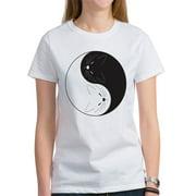 Womens Yin Yang Cats T-Shirt