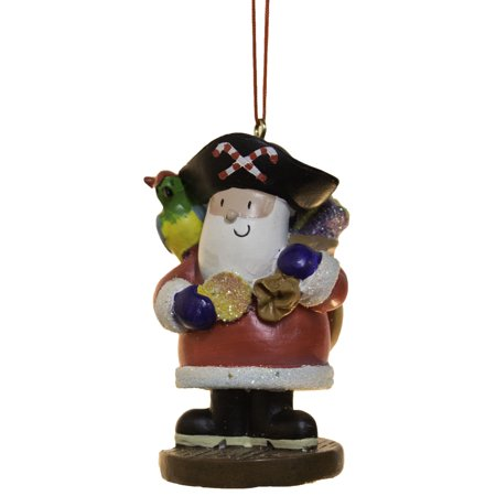 3 Inch Santa Pirate Christmas Ornament - Pirate Christmas