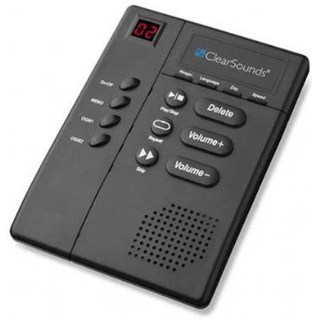 Lcd Answering Machine (ClearSounds ANS3000 Amplified Digital Answering Machine w/ Slow Speech Message Playback )
