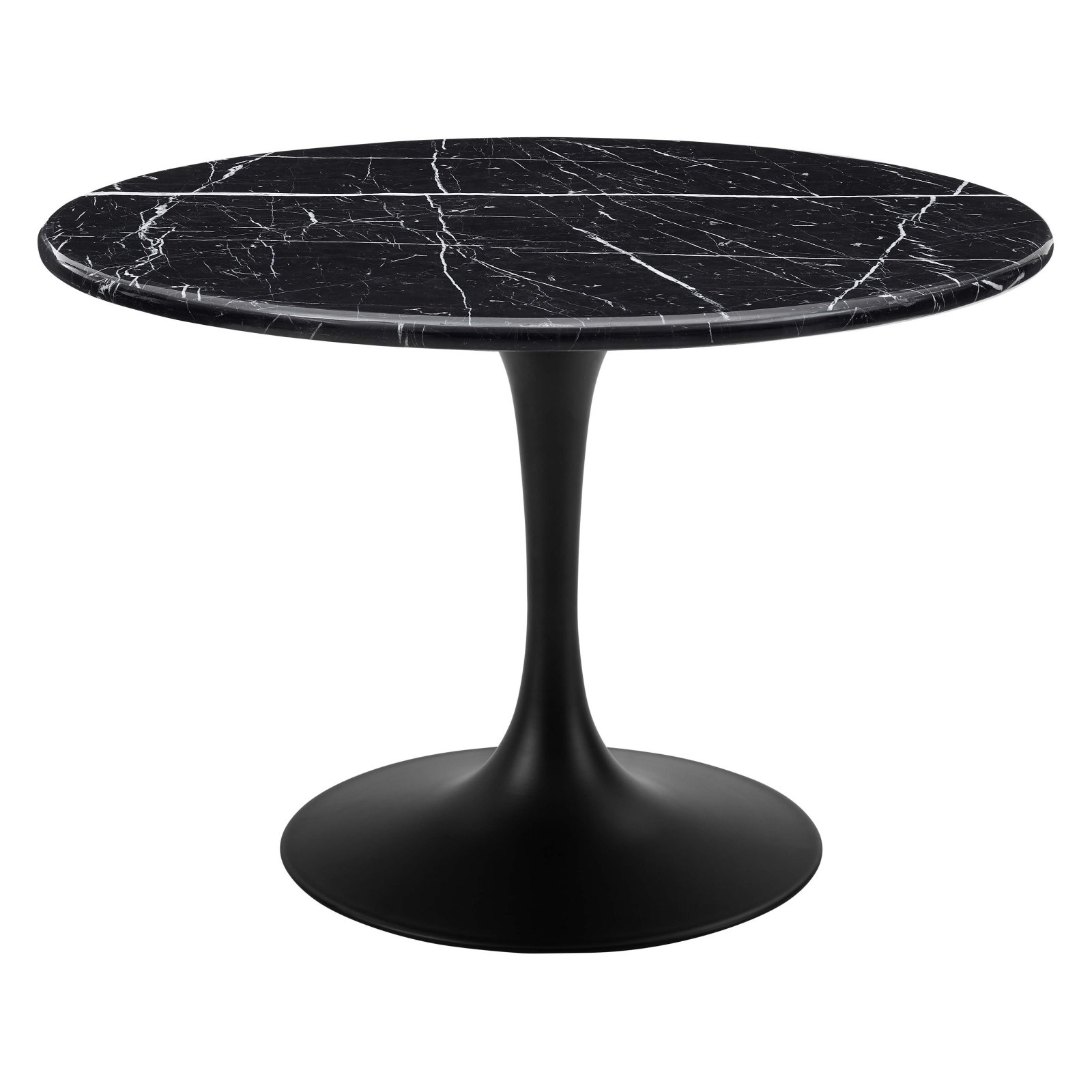 Steve Silver Co. Colfax Marquina Round Marble Dining Table