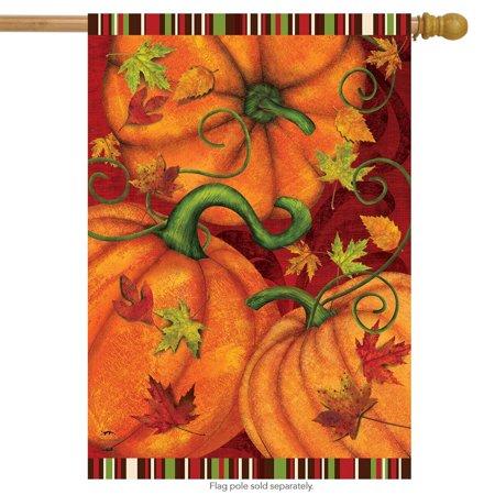 Pumpkin Patch Fall House Flag Autumn Primitive 28
