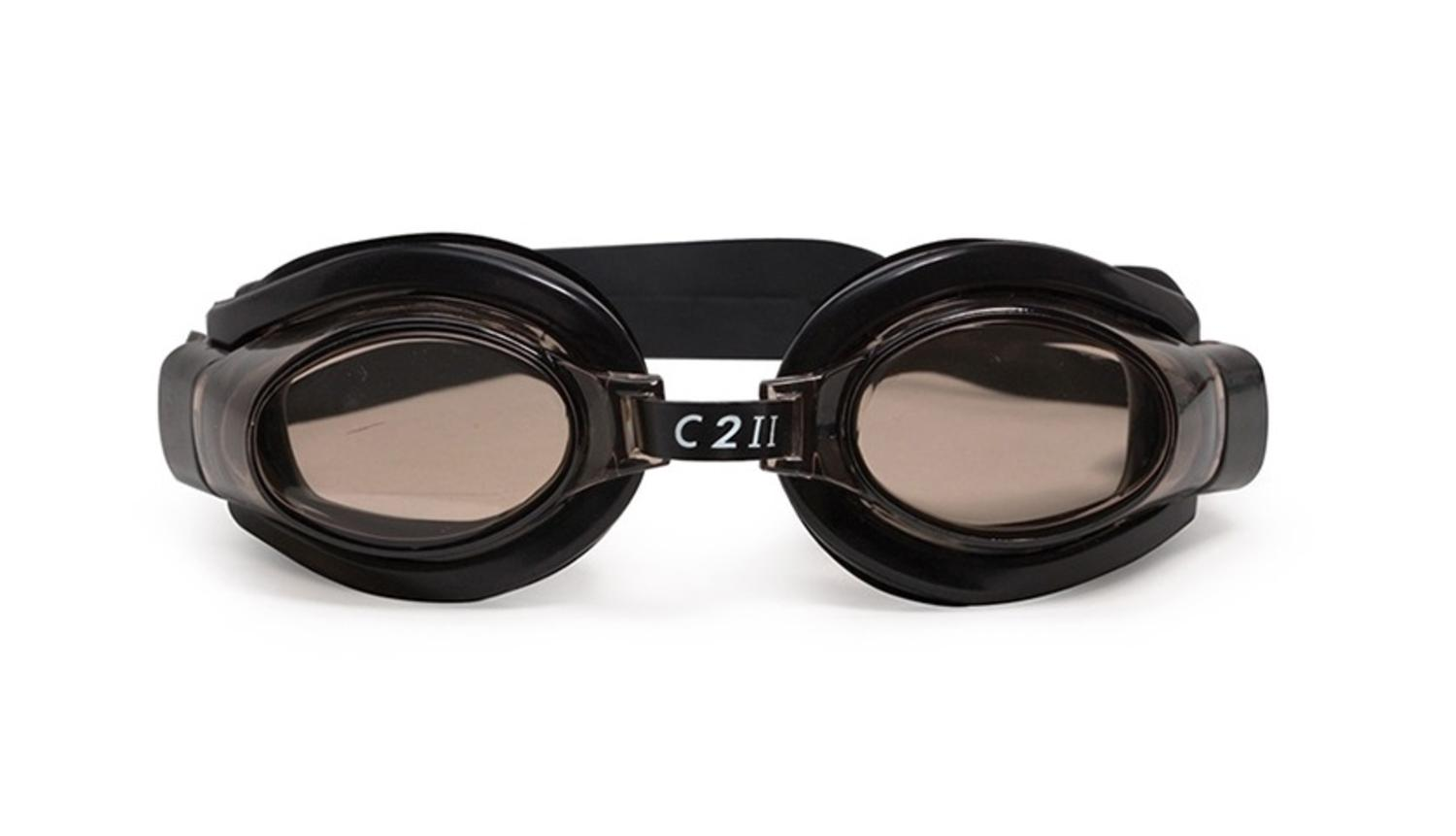 "6.5"" C2 II Water Sport Black Goggles Swimming Pool Accessory for Juniors, Teens and Adults by Swim Central"