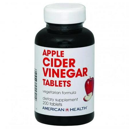 Apple Cider Vinegar 200 Tablets - American Health Apple Cider Vinegar Tablets, 480 Mg, 200 Ct
