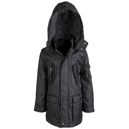 e3ef27e6249 Urban Republic Boys Water Resistant Sherpa Lined Snowboard Parka Jacket Coat