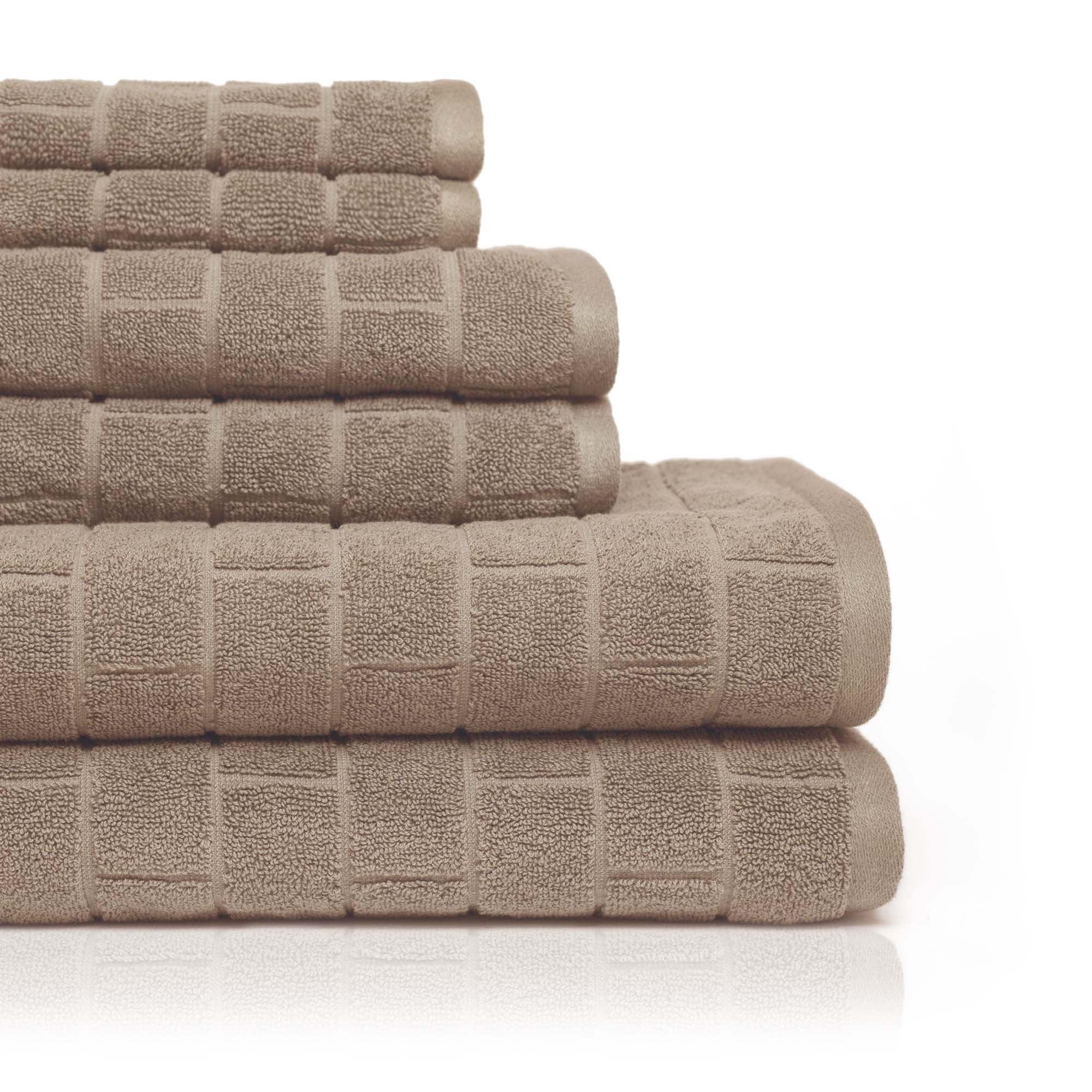 Cobblestone Tiles 6 Piece Towel Set in Barn Red
