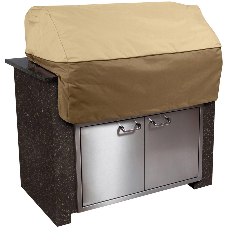 "Classic Accessories Veranda Island Barbecue BBQ Grill Top Patio Storage Cover, Up to 45"" Wide, Medium"