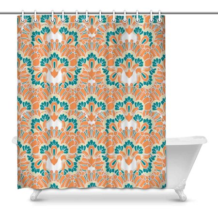 POP Colorful Flowers Country for Bathroom Shower Curtain 60x72 inch - image 1 de 1