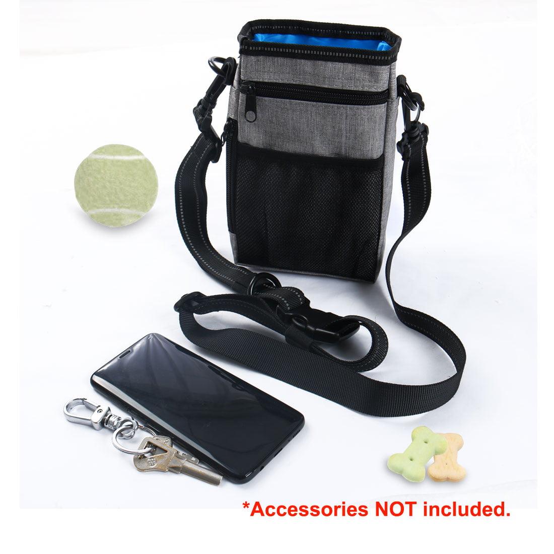 Dog Pouch Bag Pet Accessory Holder Bag w Adjustable Strap Army Green+Cyan