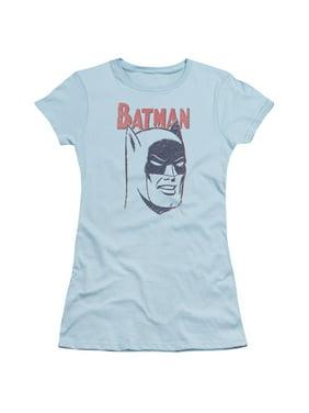 24faf996 Product Image Batman Comic Book Retro Batman Head Classic Comic Juniors  Sheer T-Shirt Tee