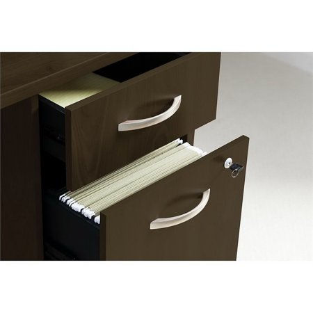 "Bush Business Series C 72"" Bowfront Desk with 2 Pedestals - image 1 de 8"