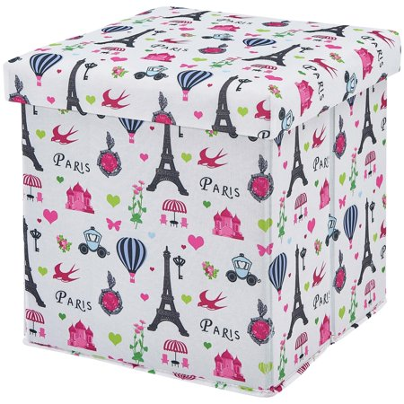 Awesome Mainstays Kids Paris Collapsible Storage Ottoman Paris Themed Design Bralicious Painted Fabric Chair Ideas Braliciousco