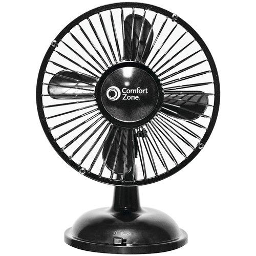 "Comfort Zone 5"" Oscillating 2 Speed USB / Battery Fan"