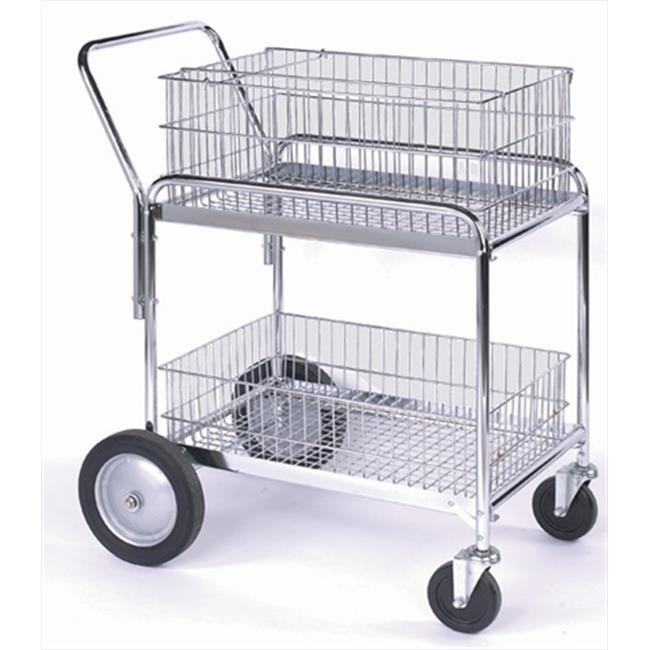 Wesco 272230 23. 75 inch W x 38. 25 inch H x 33. 5 inch D Wire Basket Office Cart