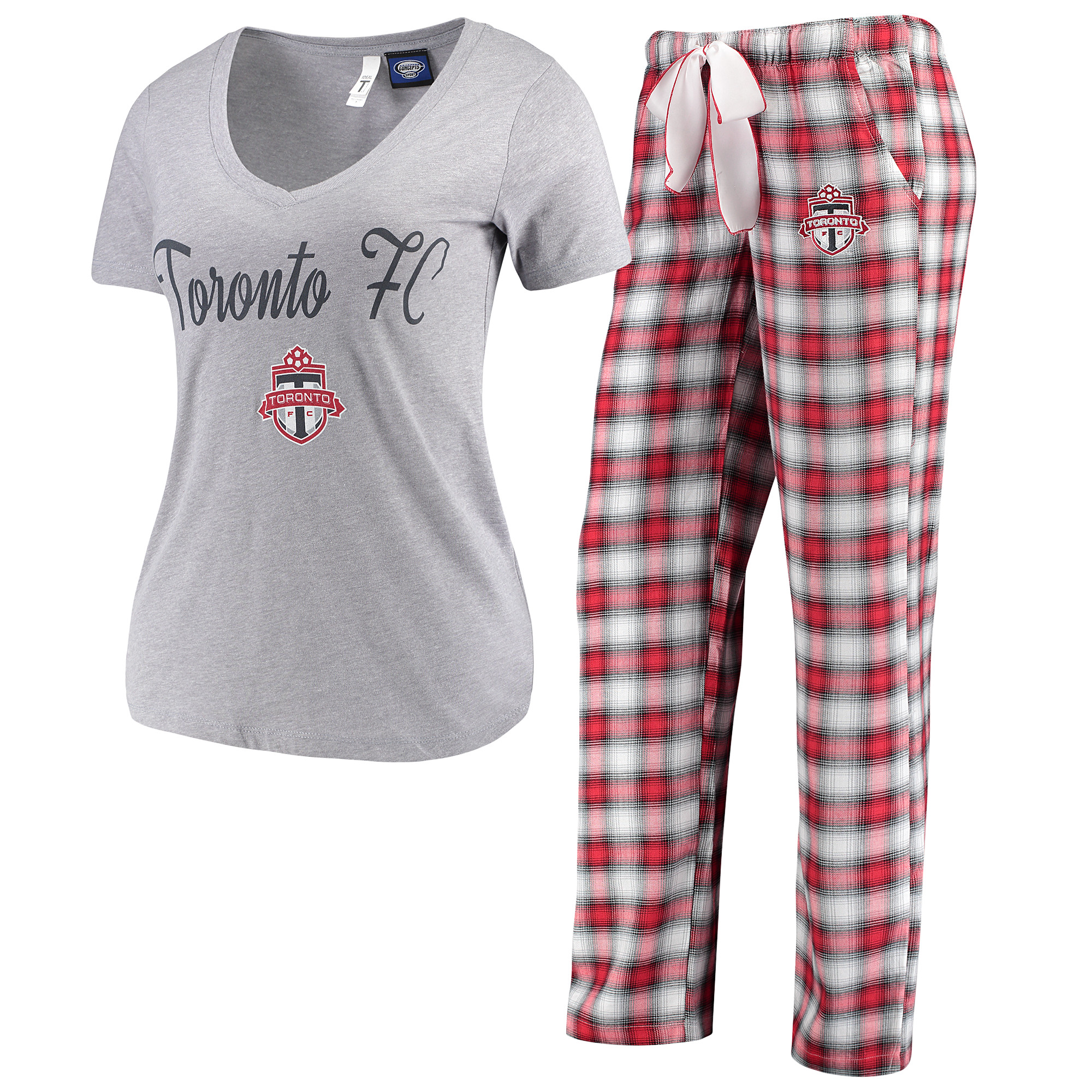 Toronto FC Concepts Sport Women's Forge Flannel Set - Gray/Red