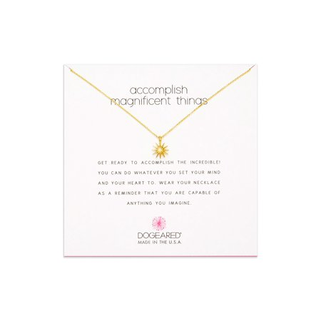 Dogeared Best Mom Necklace - Dogeared Accomplish Magnificent Things Gold Dipped Necklace