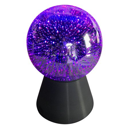 LED Color Changing Mirror Ball Lamp Battery-Operated; Product Size: 4.92 x 4.92 x 7 - Battery Operated Mirror Ball