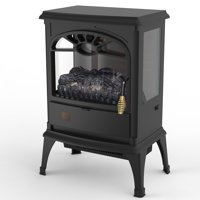 Deals on Lifesmart 3-Sided Dual Element Stove Fireplace HT1109R