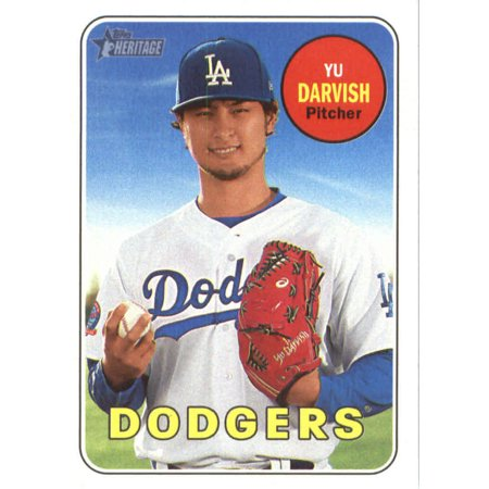 2018 Topps Heritage 161 Yu Darvish Los Angeles Dodgers Baseball Card