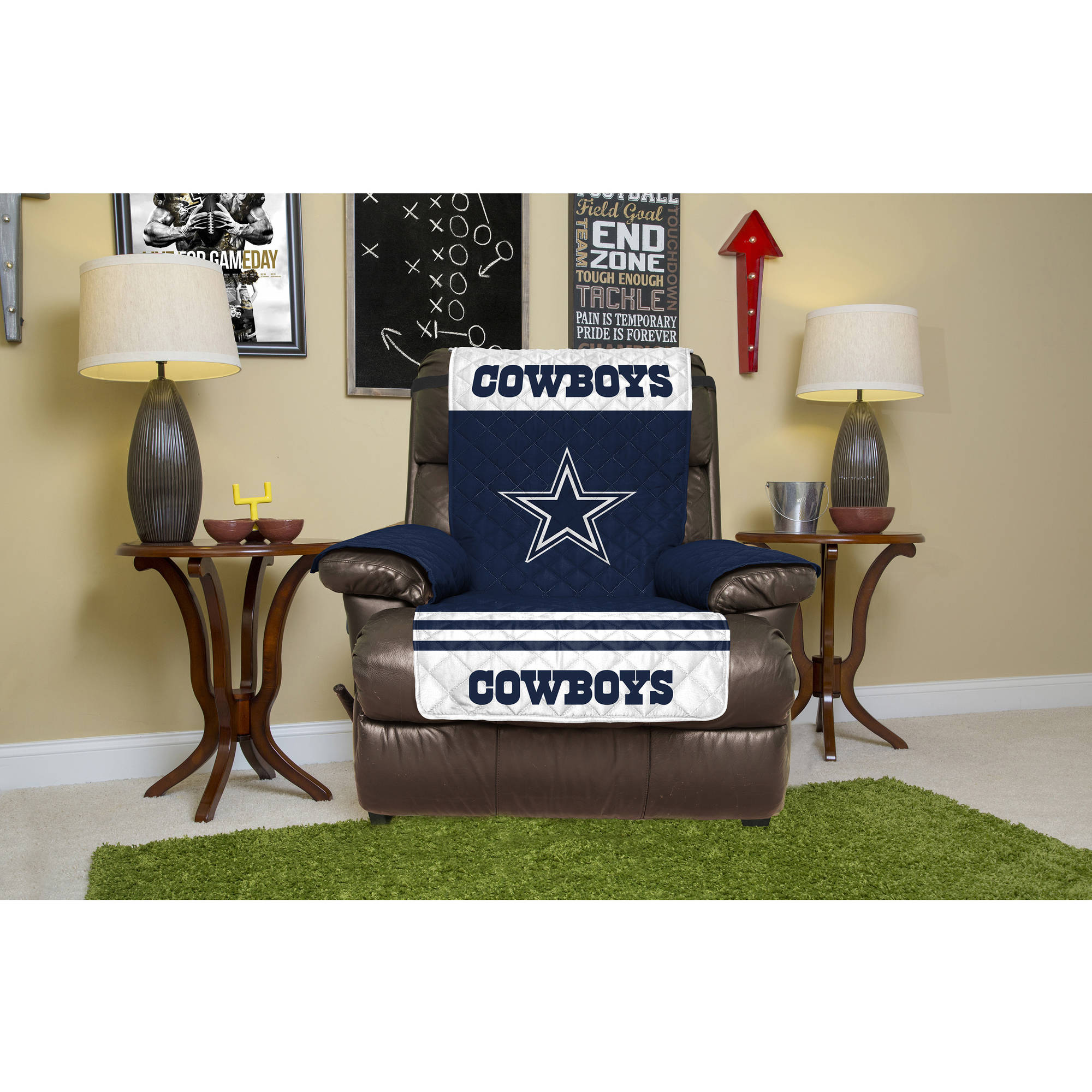NFL Licensed Furniture Protector, Recliner, Dallas Cowboys
