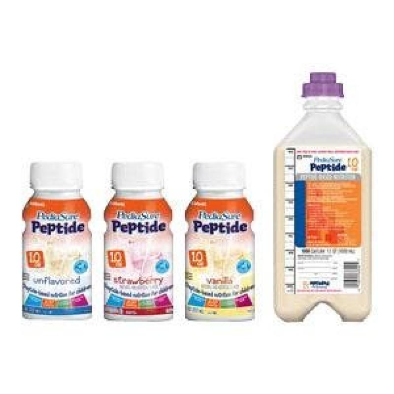 Abbott Nutrition PediaSure Peptide 1.0, Strawberry, Rtf, Institutional - 24 ct.