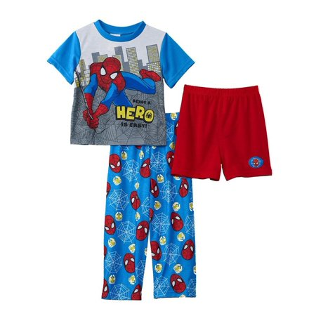 Marvel Toddler Boys Spiderman 3-Piece Pajama Set](Spiderman Mens Onesie)