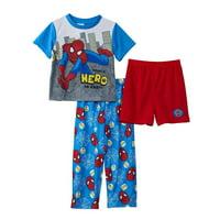 Marvel Toddler Boys Spiderman 3-Piece Pajama Set, Assorted, Size: 2T