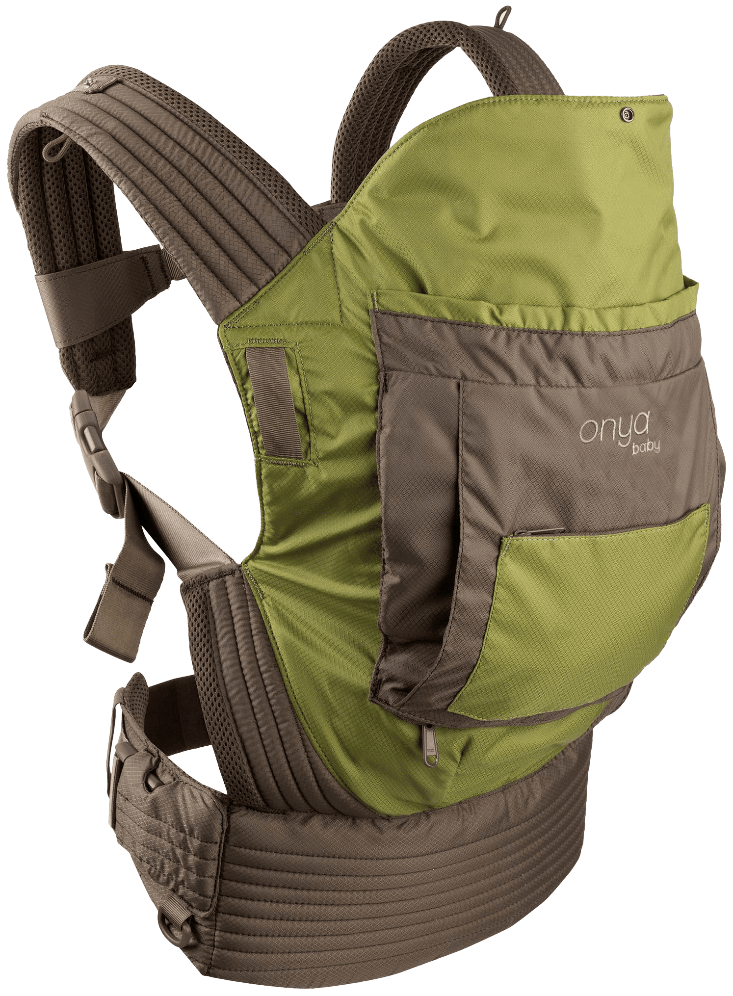Onya Baby Outback Baby Carrier Olive Green Chocolate Chip by Onya Baby