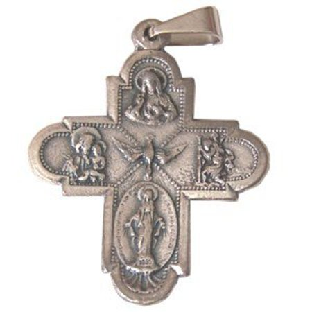 Holy Spirit Cross - Pewter (2.3x2.6cm-0.9x1