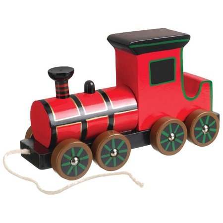 Orange Tree Toys Wooden Steam Train Pull Along