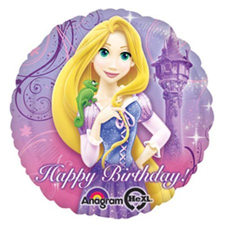 HX Rapunzel Happy Birthday Packaged Party Balloons, Multicolor, Great for parties and other special occasions By Anagram International](Repunzel Birthday)