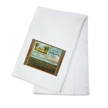 San Diego Mission Brand - Chula Vista, California - Citrus Crate Label (100% Cotton Kitchen Towel) ()