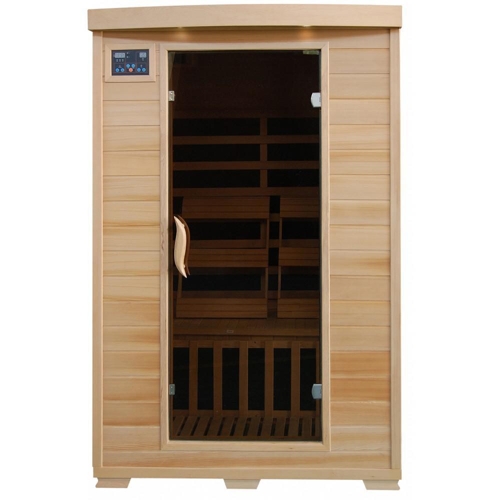 BlueWave SA2409 Coronado-Hemlock 2 Person FAR Infrared Sauna With Carbon Heaters by HeatWave