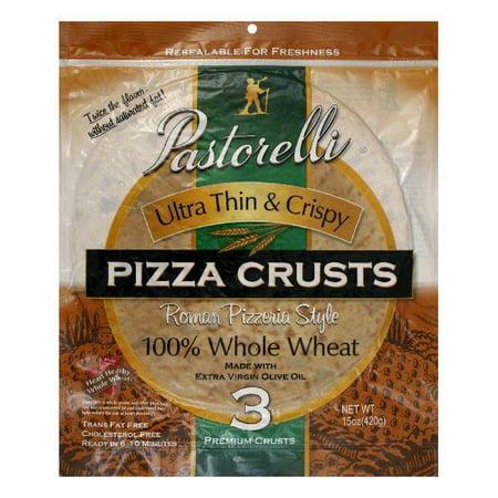 Pastorelli 100  Whole Wheat Ultra Thin   Crispy Roman Pizzeria Style Pizza Crust  15 Oz  Pack Of 10