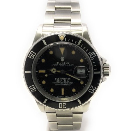 Rolex Submariner 168000 Black Luminous dial and a Stainless Steel Unidirectional Bezel (Certified Pre-Owned)