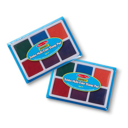 Melissa & Doug Jumbo Multi-Color Stamp Pad 2 Pack Art Supplies