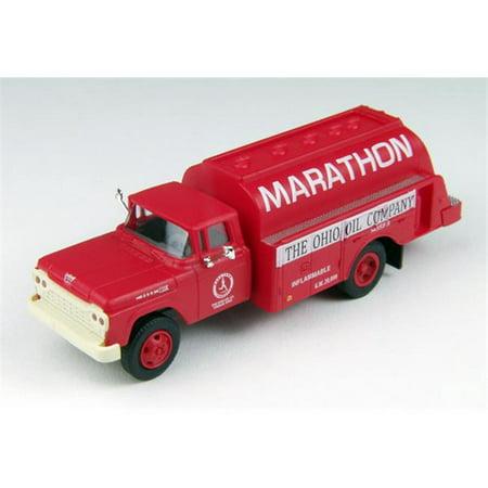 Ford Oil Tanker - CMW CMW30455 Marathon Oil - 1960 Ford F-500 Tanker Model Truck