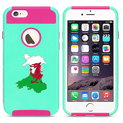 Apple iPhone 6 6s Shockproof Impact Hard Case Cover Wales Welsh Flag (Light...