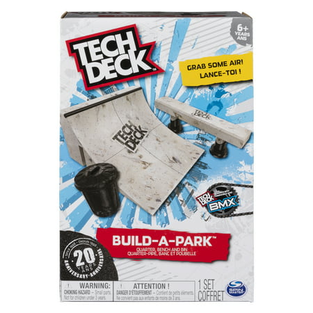 Tech Deck - Build-A-Park – Quarter, Bench, and Bin – Ramps for Tech Deck Boards and (Ramps And 1 Deck)