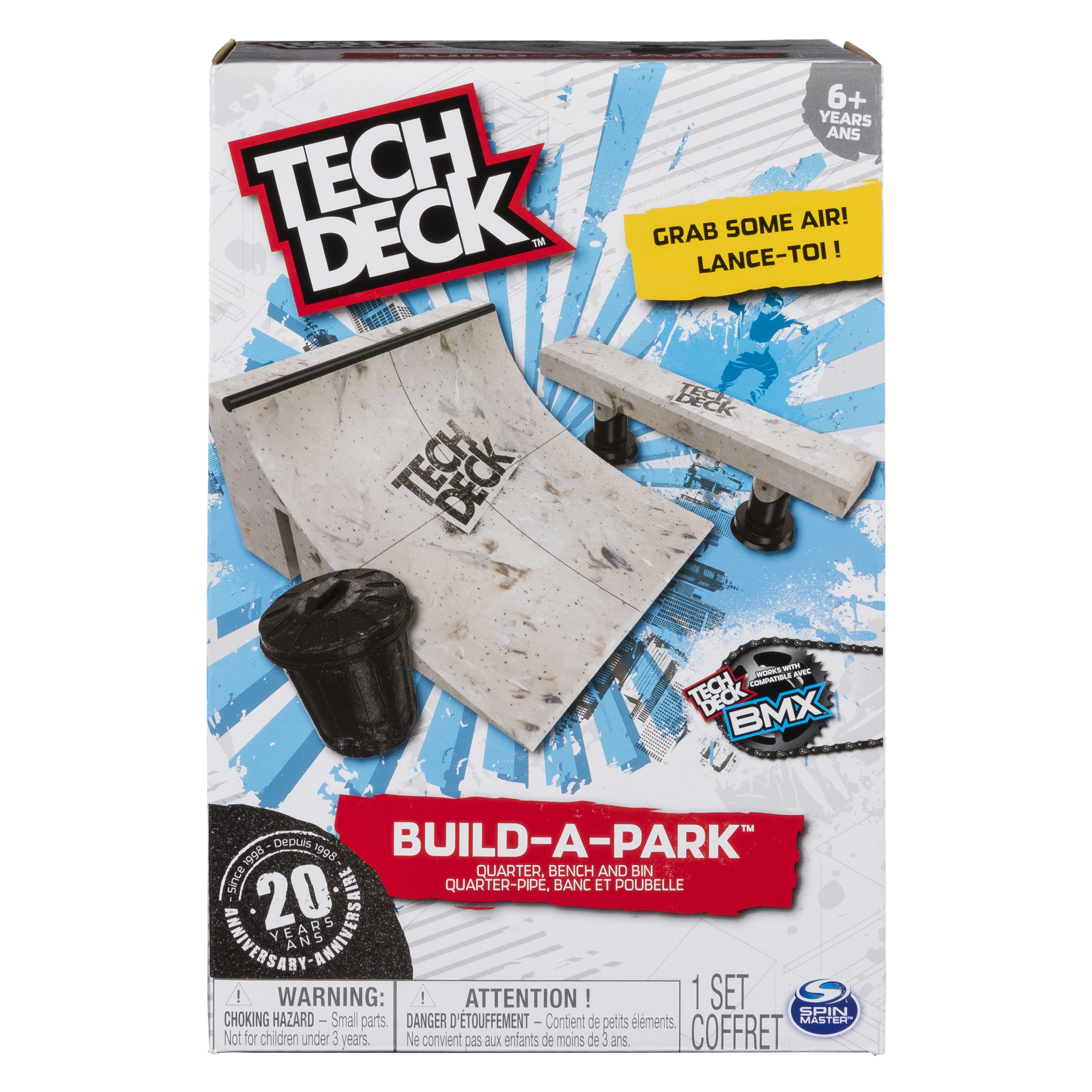 Tech Deck - Build-A-Park – Quarter, Bench, and Bin – Ramps for Tech Deck Boards and Bikes