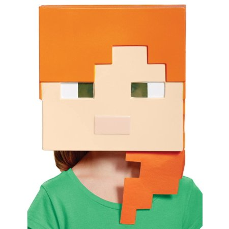 Minecraft Alex Vacuform Mask Adult Halloween Accessory - Top 100 Minecraft Halloween Songs